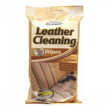CAR PRIDE LEATHER CLEANING WIPES 40pk
