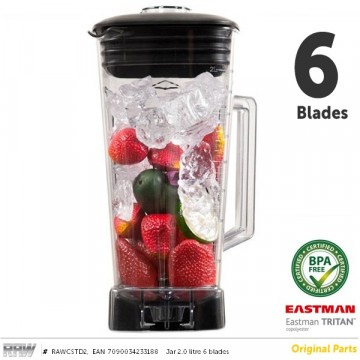 RAW Beholder BPA fri 2.0 liter 6 Blader RAW og Vitamix