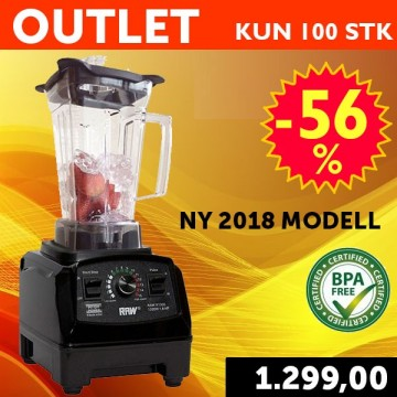 OUTLET RAW X1300 1,8 HK 1,5 l. Sort NY