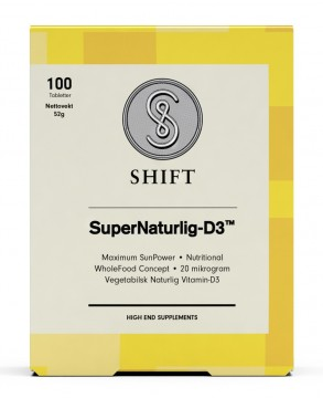 SHIFT SUPERNATURLIG-D3 100 tabletter
